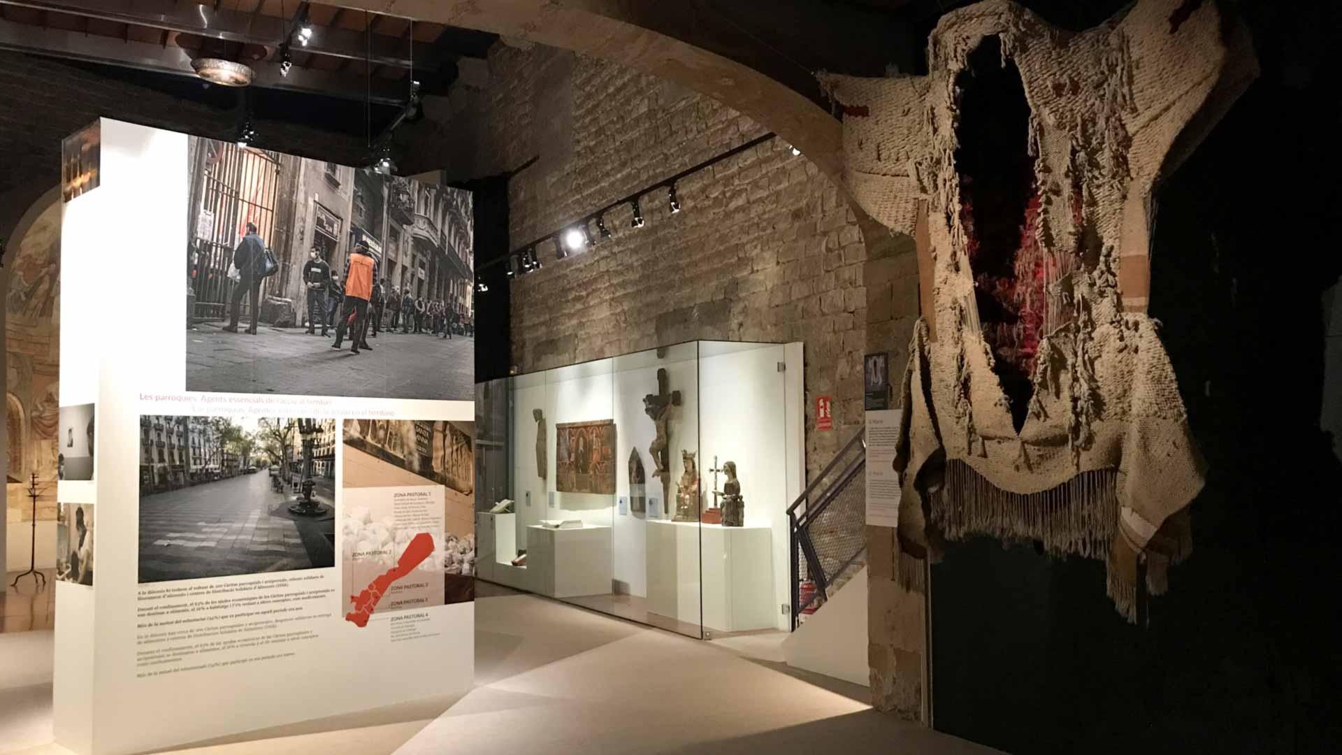 MUSEOGRAFIA - OBRE ELS ULLS - EXPOSICIÓ PANDEMIA COVID - MUSEU DIOCESÀ